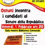 Ostuni, Movimento 5 Stelle: aperitivo con i candidati al senato