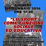Incontro-Dibattito dal titolo: lo Sport ad Ostuni, Ieri Oggi e Domani