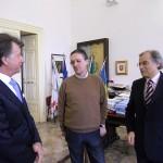 Il nuovo questore di Brindisi, Roberto Gentile, in visita a palazzo San Francesco