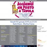 """""""Aggiungi un posto a Tavola"""" in scena al Teatro Nuovo di Martina Franca"""