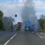 Autobus della Sud Est a fuoco a Martina Franca