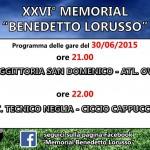 Memorial Benedetto Lorusso: la seconda giornata