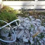 Scarico abusivo di materiale edile nel bosco Papacidd