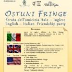 """""""Ostuni Fringe"""": serata dell'amicizia italo-inglese sabato 11 luglio"""