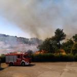 Martina Franca. Incendio nei pressi di via Alberobello