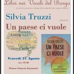 """Silvia Truzzi presenta a Locorotondo un """"Paese ci vuole"""""""