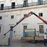 Restauro Sale Nobili di Palazzo Ducale.Iniziati i lavori