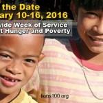 Sabato 16 gennaio colletta alimentare per la settimana internazionale Lions contro la fame e la povertà