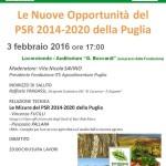 Le nuove opportunità del PSR 2014-2020 della Puglia: mercoledì in programma un seminario a Locorotondo