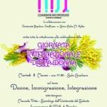 """8 Marzo – """"Donne, immigrazione, integrazione""""- Giornata Internazionale Festa della Donna"""