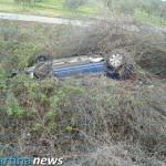 Incidente sulla SS 172. Auto ribaltata ma nessuna grave conseguenza