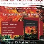 """Giovedì 17 marzo torna """"Libri nei vicoli del borgo"""" con """"Le parole oltre il tempo"""" di Concetta Cataldo"""