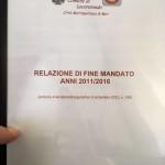 Tommaso Scatigna: consegnata alla Corte dei Conti la Relazione di Fine Mandato (2011-2016)