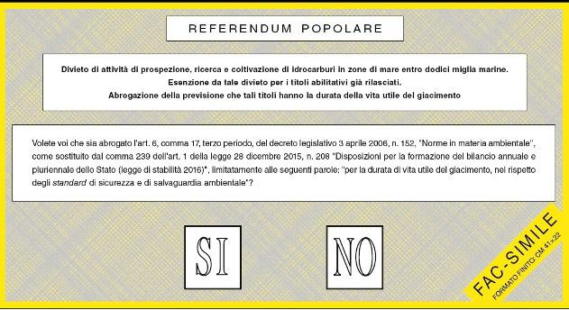 Referendum trivelle, affluenza regione per regione