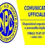 Nuova Pallacanestro Ceglie: Disposizioni per la prima gara della finale playoff