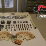 Spaccio, tre arresti a Martina Franca. Sequestrata droga e denaro