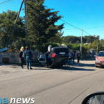 Incidente in via Guglielmi: auto ribaltata, dinamica da accertare