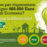 Ecotassa, anche quest'anno risparmiati 400mila euro. I ringraziamenti del Commissario Castaldo