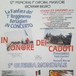 """In memoria dei Caduti. Giovedì il """"Memorial I Caporal Maggiore Giovanni Bruno"""""""