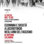 """Antonio Salamina presenta il suo """"Economia e società a Locorotondo negli anni del fascismo"""""""