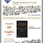 """Marika Kaufmann Venezia presenta a Locorotondo """"Sonderkommando Auschwitz"""""""
