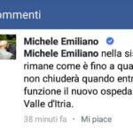 L'ospedale di Martina Franca chiuderà, parola di Michele Emiliano