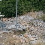 Martina Franca, Carabinieri trovano eternit nell'agro. Nei prossimi giorni più controlli
