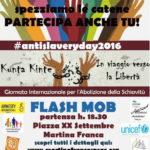 Giornata Internazionale per l'abolizione della schiavitù. A Martina Franca un flash mob
