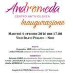 """Centro Antiviolenza """"Andromeda"""": oggi l'inaugurazione"""