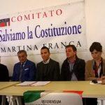 Martina Franca. Presentato il Comitato contro la Riforma Costituzionale