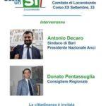 Comitato Basta un Sì Locorotondo: rinviato a domenica 20 novembre l'incontro con Decaro