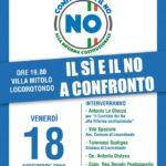 """Comitato per il No: questa sera a Locorotondo """" il sì e il no a confronto"""""""