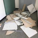 Centro servizi. Crolla il controsoffitto della Polizia Locale, nessun ferito