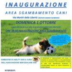Locorotondo: domenica 1 Ottobre l'inaugurazione dell'area sgambamento cani