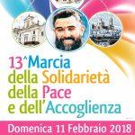 Marcia della Solidarietà, della Pace e dell'Accoglienza 2018: ecco il programma