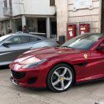 La Ferrari ad Alberobello. La nuova Portofino fra i trulli per i test drive internazionali