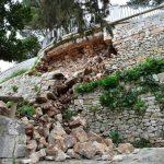 Locorotondo: crolla la base dell'affaccio sulla Valle d'Itria in Villa, ma è in sicurezza da ieri