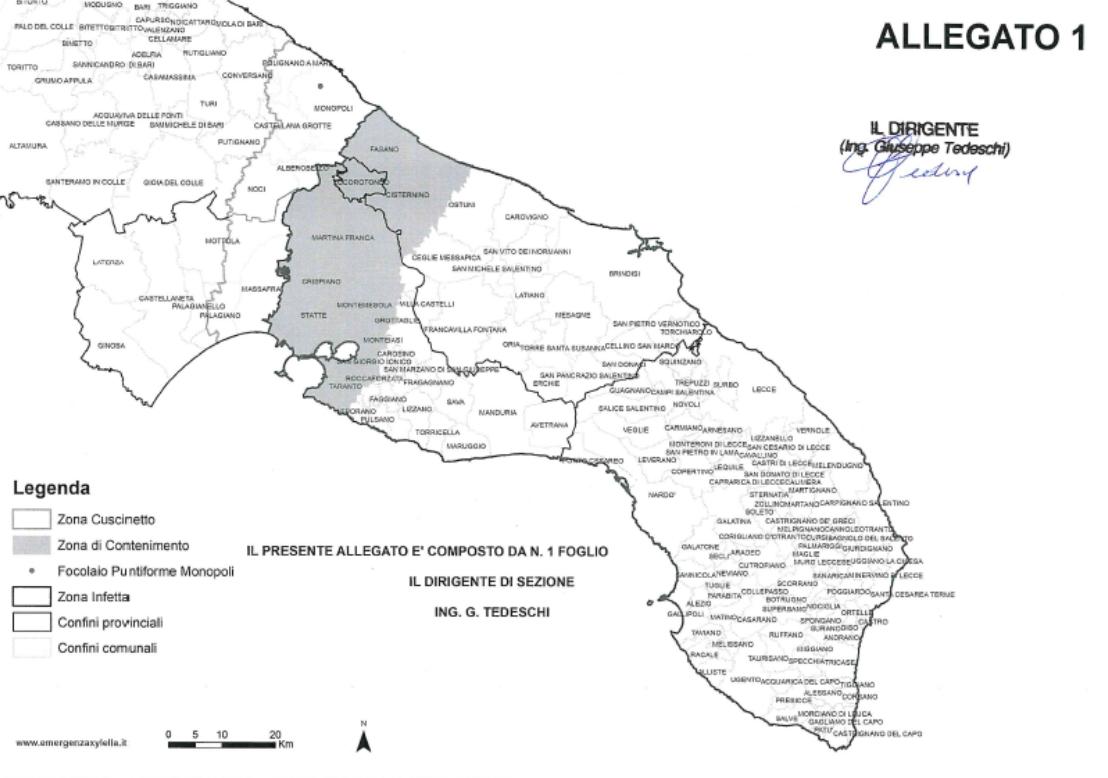 Mappa Xylella Puglia.Locorotondo Avviata L Attivita Di Monitoraggio Xylella Fastidiosa Valle D Itria News