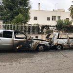 Locorotondo: due auto prendono fuoco in Via Luigi Musajo
