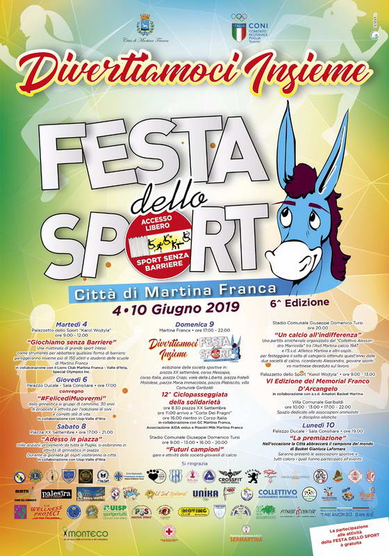 Calendario Eventi Martina Franca.Festa Dello Sport Presentato Il Calendario Tutti Gli