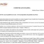 """Il panificio San Pietro comunica: """"In attesa di istruzioni da Asl, procede a sanificazione. Chiediamo rispetto e riservatezza"""""""