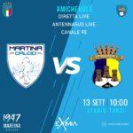 Martina Calcio: domani amichevole a porte chiuse contro l'Ostuni