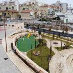 Via del Tocco. Fratelli d'Italia: verde secco, pavimento che salta. Opera incompiuta