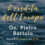 L'eredità dell'Europa. Martedì iniziativa online con l'eurodeputato Pietro Bartolo